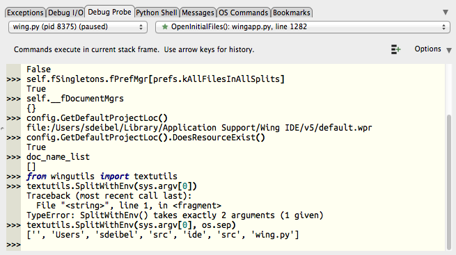 Wing Tips: Interactive Python in Wing Pro: The Debug Probe