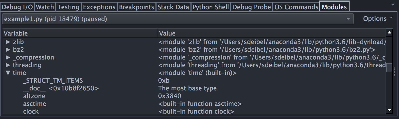 Tutorial: Other Debugger Features - Wing Python IDE