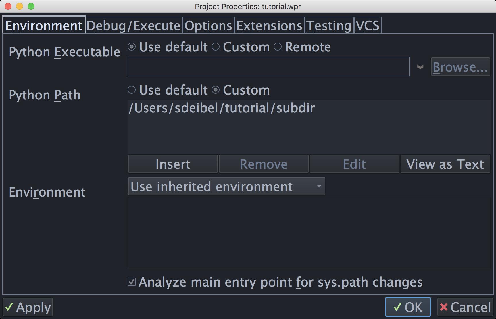 Tutorial: Setting Python Path - Wing Python IDE